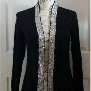Saks Fifth Avenue Cardigan Sweater 100% Cashmere